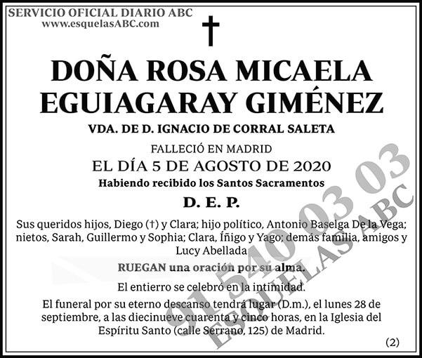 Rosa Micaela Eguiagaray Giménez