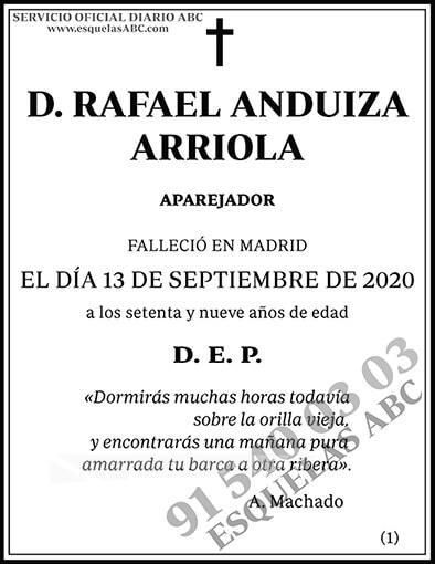 Rafael Anduiza Arriola