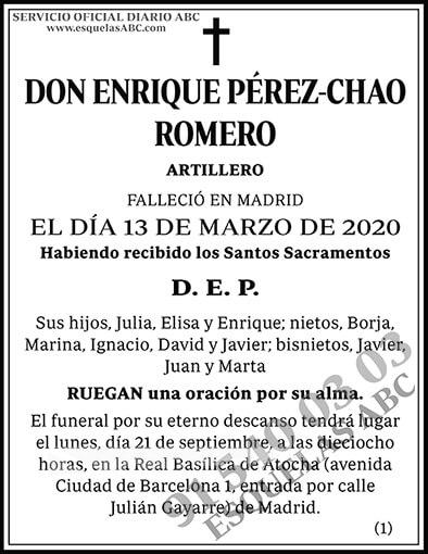 Enrique Pérez-Chao Romero