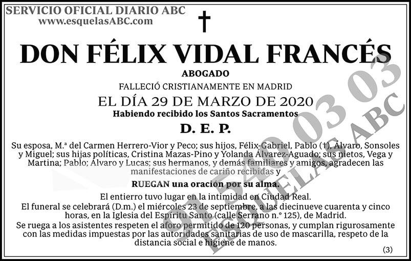 Félix Vidal Francés