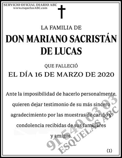 Mariano Sacristán de Lucas