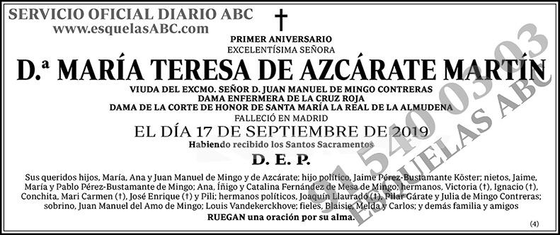 María Teresa de Azcárate Martín