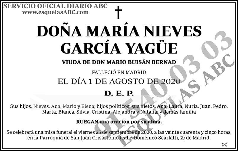 María Nieves García Yagüe