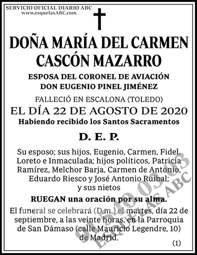 María del Carmen Cascón Mazarro