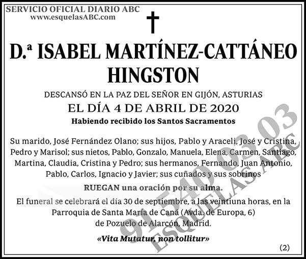 Isabel Martínez-Cattáneo Hingston