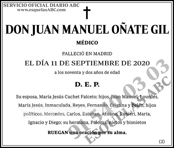 Juan Manuel Oñate Gil