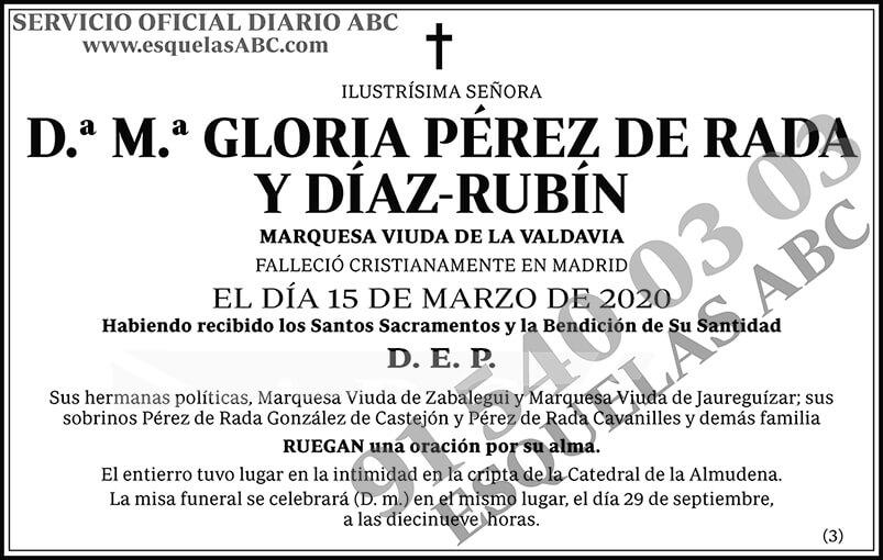 M.ª Gloria Pérez de Rada y Díaz-Rubín