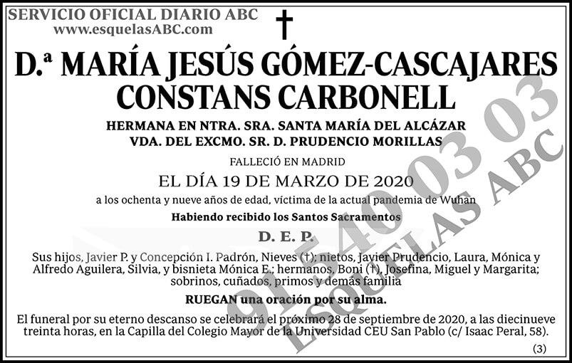 María Jesús Gómez-Cascajares Constans Carbonell