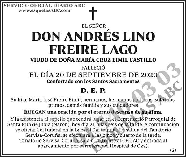 Andrés Lino Freire Lago