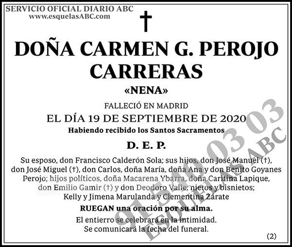 Carmen G. Perojo Carreras