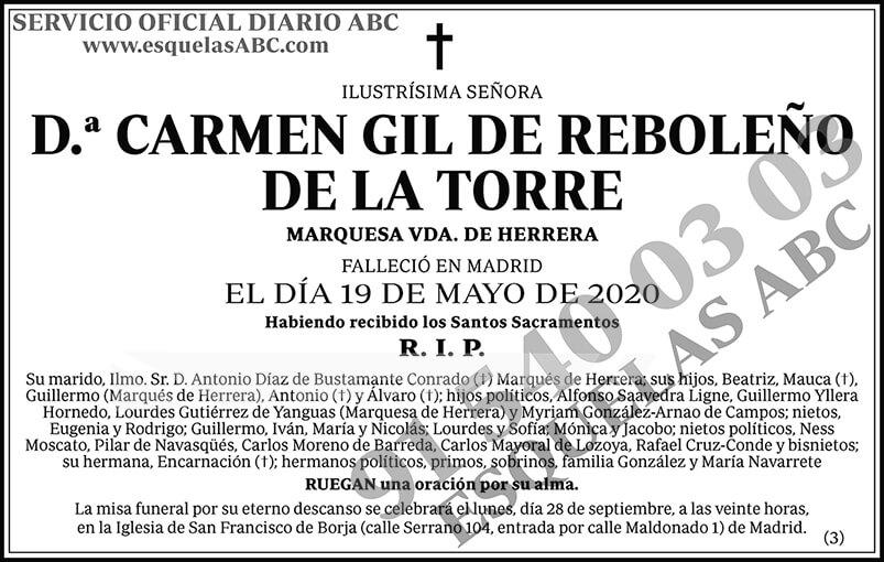 Carmen Gil de Reboleño de la Torre