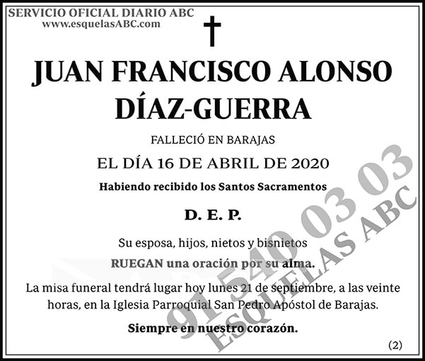 Juan Francisco Alonso Díaz-Guerra