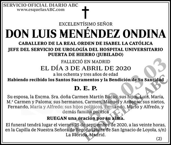 Luis Menéndez Ondina