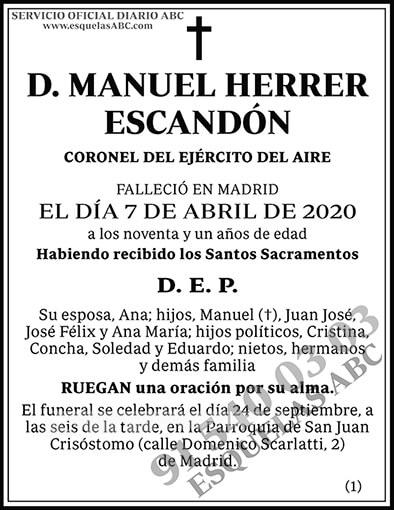 Manuel Herrer Escandón