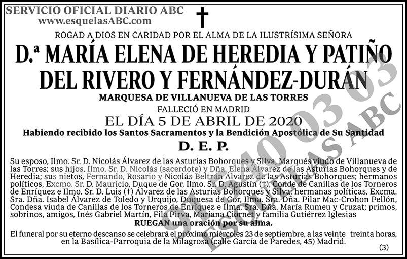 María Elena de Heredia y Patiño del Rivero y Fernández-Durán
