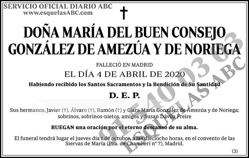 María del Buen Consejo González de Amenzúa y de Noriega