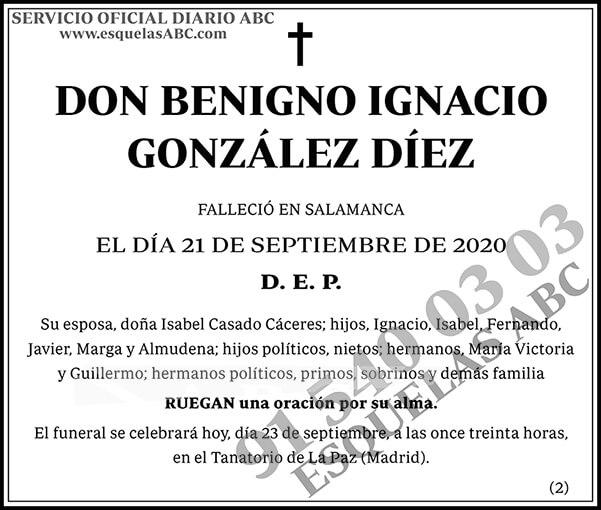 Benigno Ignacio González Díez