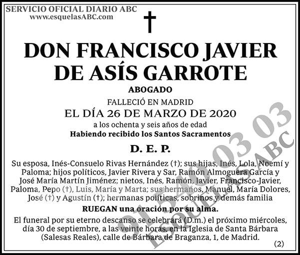 Francisco Javier de Asís Garrote
