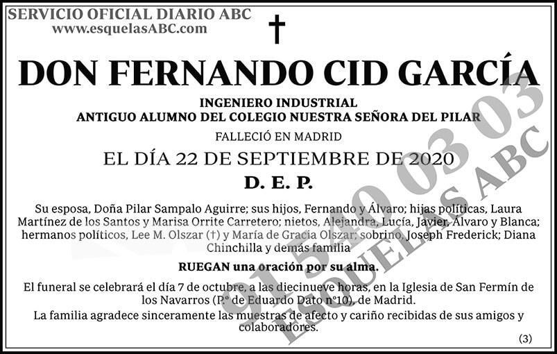 Fernando Cid García