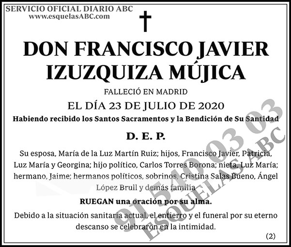 Francisco Javier Izuzquiza Mújica