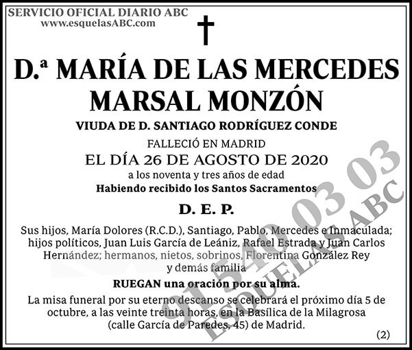 María de las Mercedes Marsal Monzón