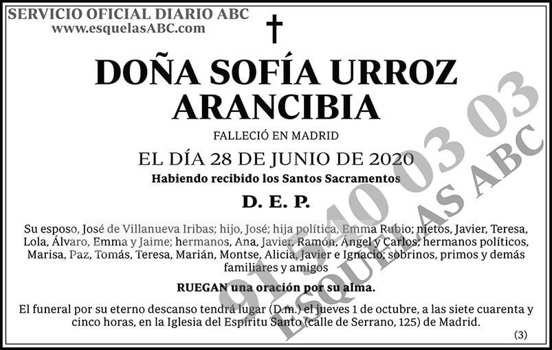 Sofía Urroz Arancibia