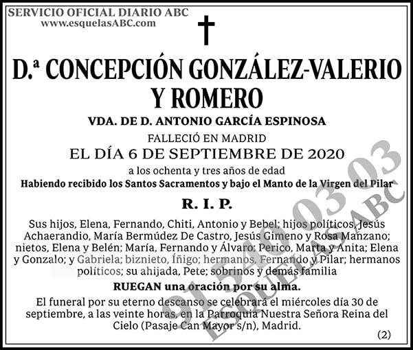 Concepción González-Valerio y Romero