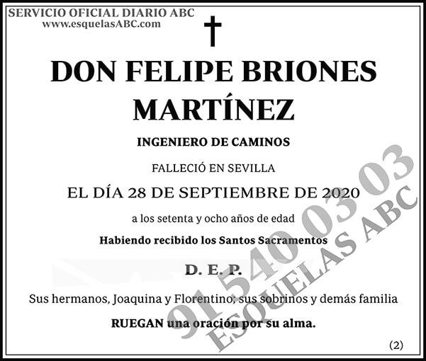 Felipe Briones Martínez