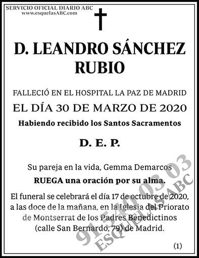 Leandro Sánchez Rubio