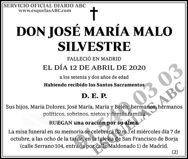 José María Malo Silvestre