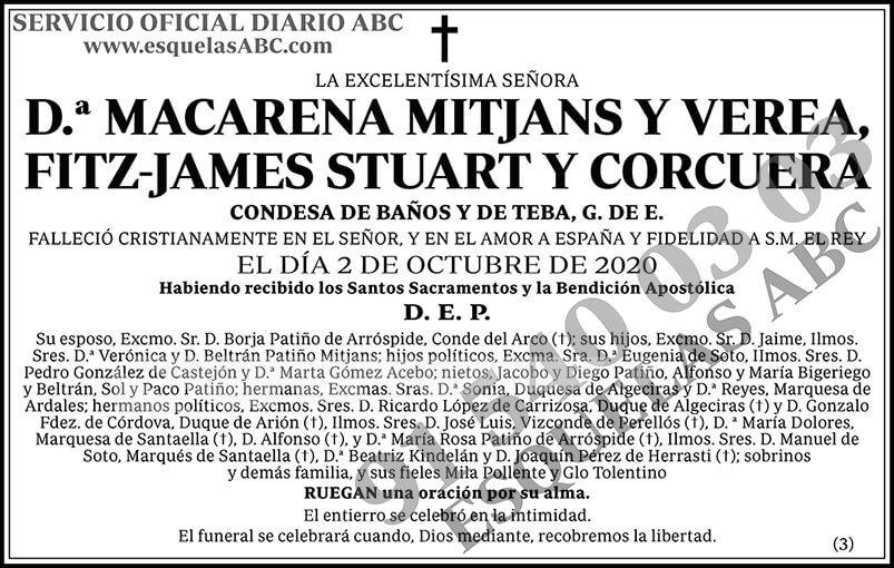 Macarena Mitjans y Verea, Fitz-James Stuart y Corcuera