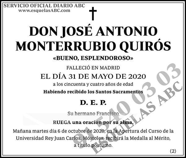 José Antonio Monterrubio Quirós