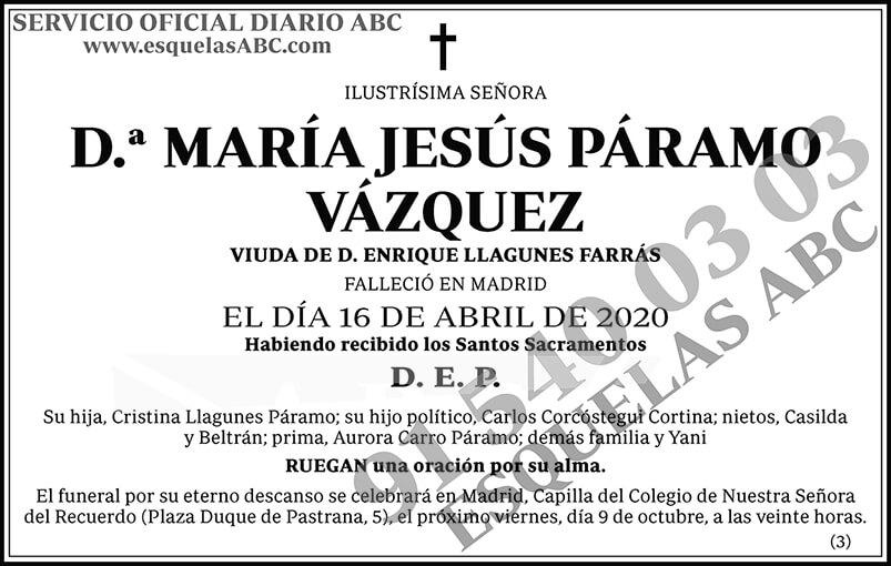 María Jesús Páramo Vázquez