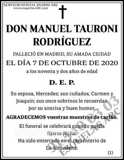 Manuel Tauroni Rodríguez