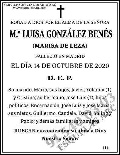 M.ª Luisa González Benés
