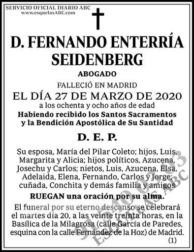 Fernando Enterría Seidenberg