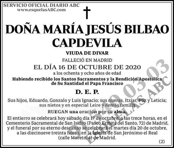 María Jesús Bilbao Capdevila