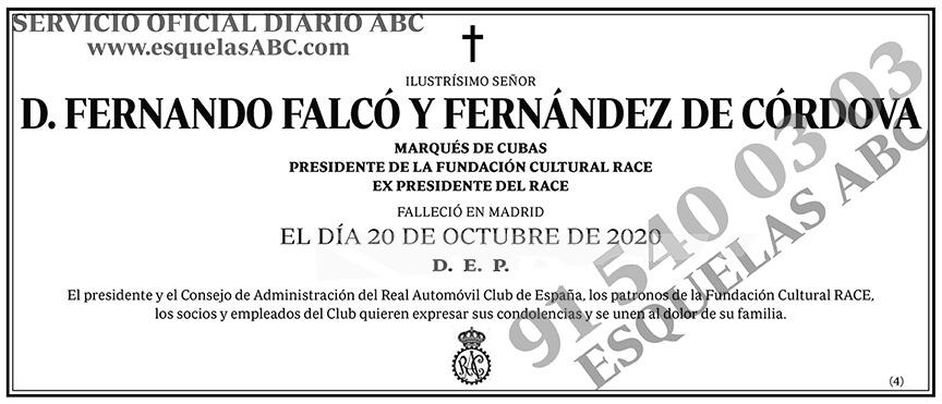 Fernando Falcó y Fernández de Córdova