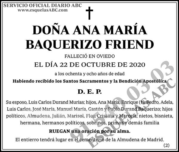 Ana María Baquerizo Friend