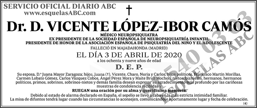 Vicente López-Ibor Camós
