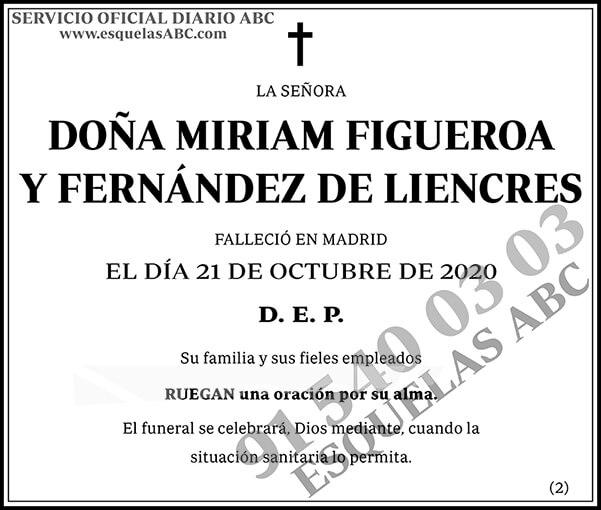 Miriam Figueroa y Fernández de Liencres