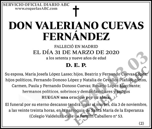 Valeriano Cuevas Fernández