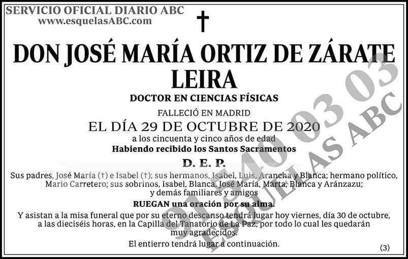 José María Ortiz de Zárate Leira