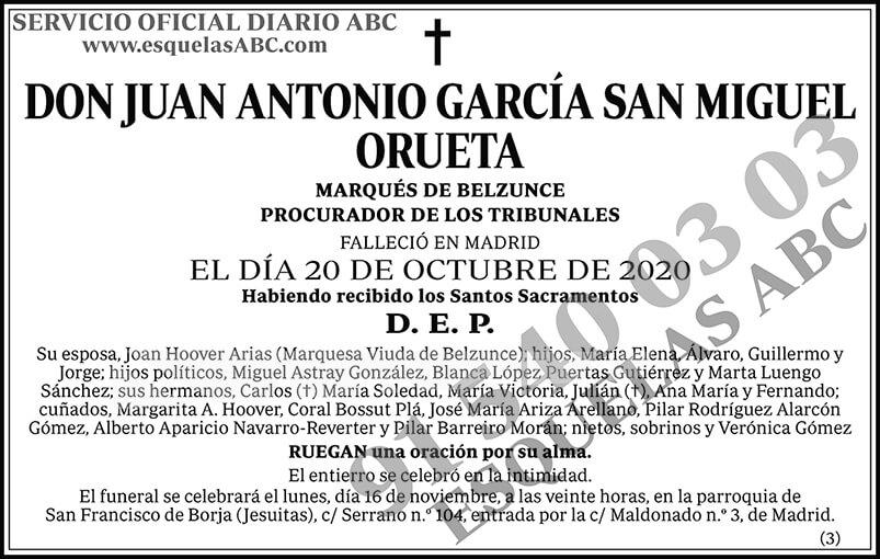 Juan Antonio García San Miguel Orueta
