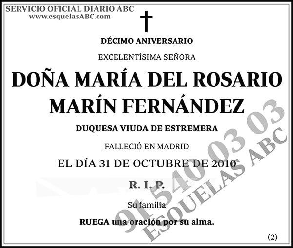 María del Rosario Marín Fernández