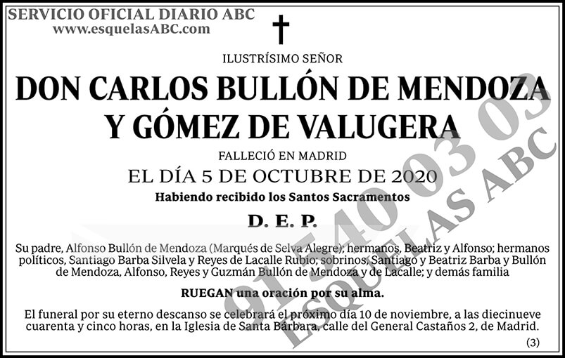 Carlos Bullón de Mendoza y Gómez de Valugera
