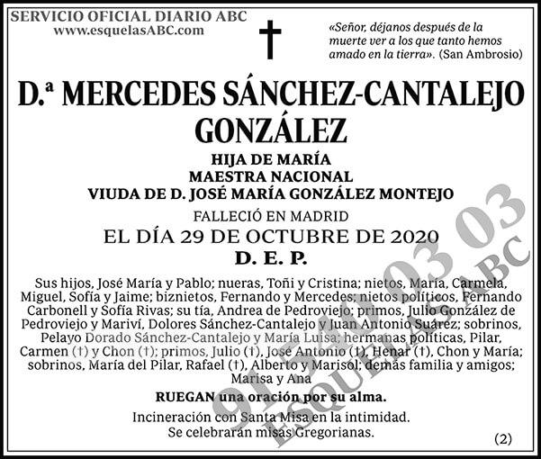 Mercedes Sánchez-Cantalejo González