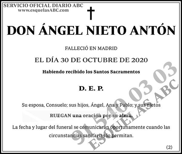 Ángel Nieto Antón