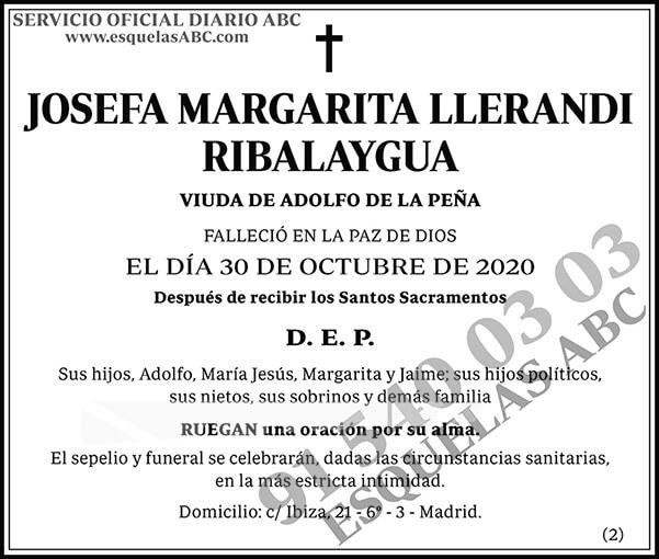 Josefa Margarita Llerandi Ribalaygua