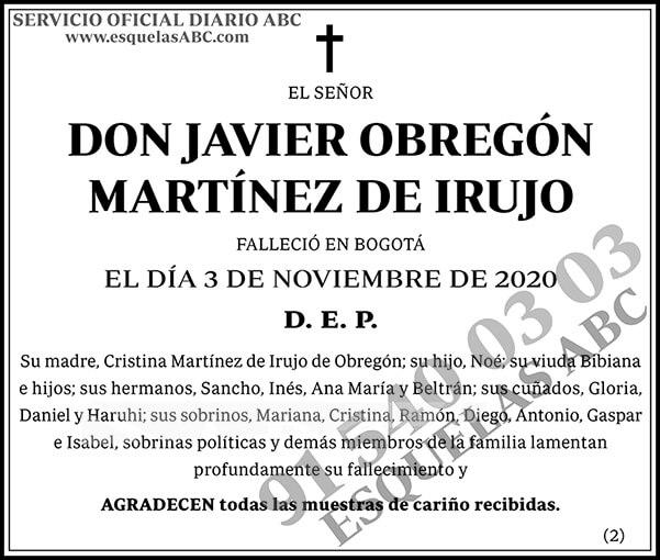 Javier Obregón Martínez de Irujo